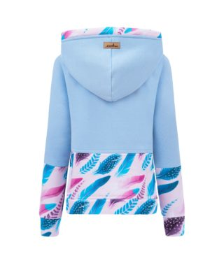 Candy Hoodie Kids - Blue Feathers Back