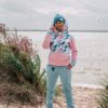 Candy Hoodie - Pink Feathers Front4