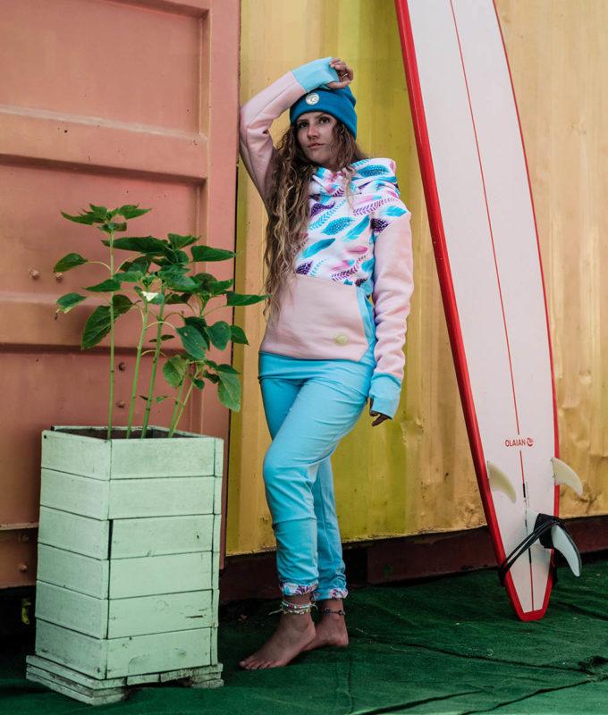 Spodnie bawełniane - niebieskie3
