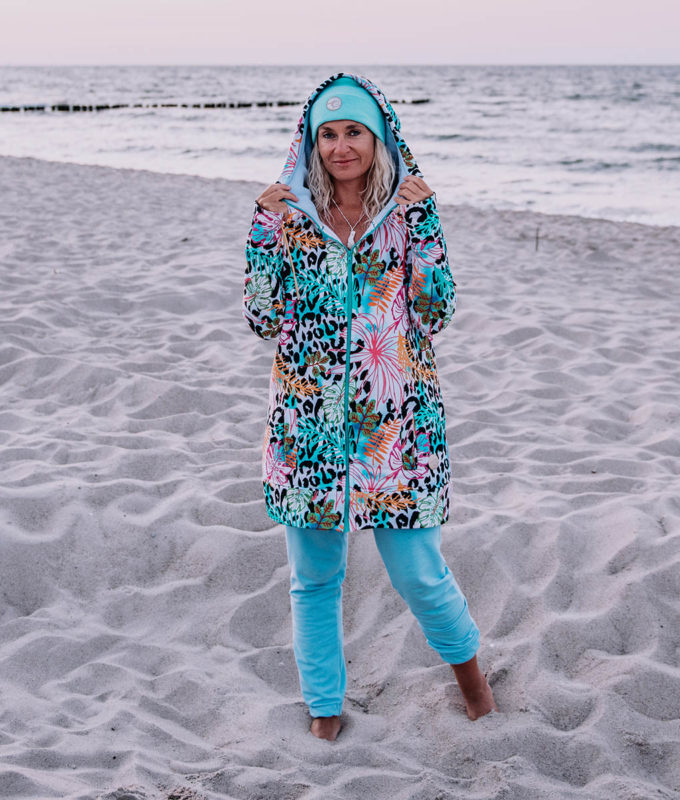 Spodnie bawełniane - niebieskie4