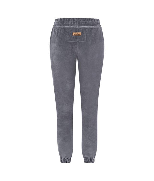 Spodnie welurowe szare tył