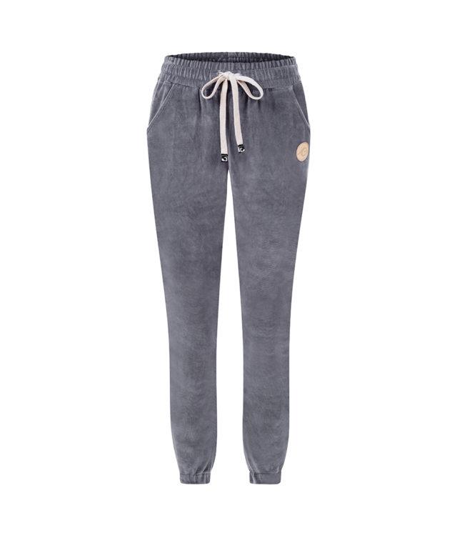 Spodnie welurowe szare przód