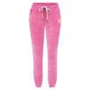 Spodnie welurowe różowe przód